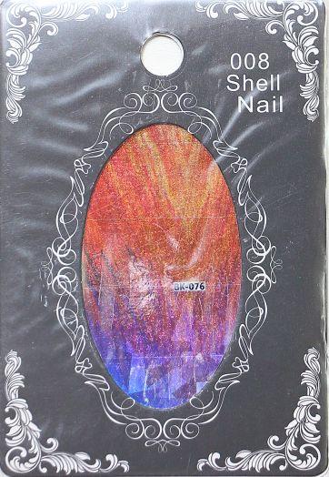 Фольга SHELL NAIL 008 vk-076 битое стекло