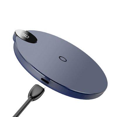 Беспроводная ЗУ с дисплеем Baseus Digtal LED Display Wireless Charger Синий (WXSX-03)