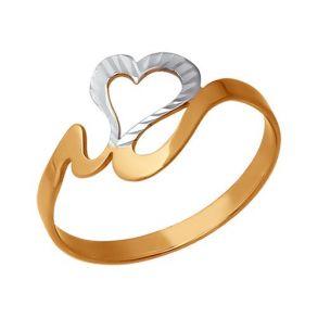 Кольцо из золота с алмазной гранью 015220 SOKOLOV