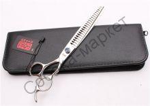 Ножницы филировочные Kasho 8 дюймов серия Блу Стоун