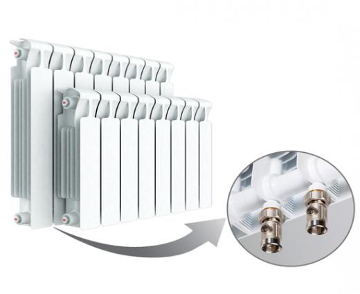 Биметаллический радиатор RIFAR MONOLIT Ventil 500 правое нижнее подключение 4 секции