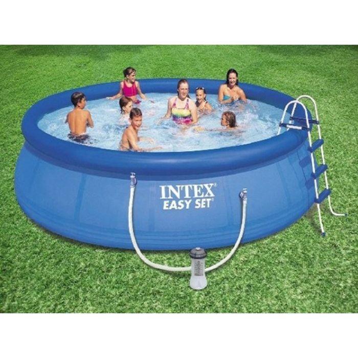 Бассейн Easy Set INTEX 396х84 см + фильтр-насос