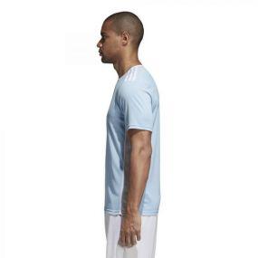 Детская игровая футболка adidas Entrada 18 голубая