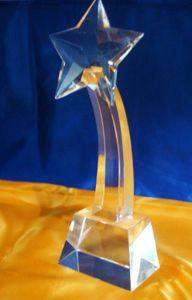 Статуэтка Звезда стеклянная (26 см)