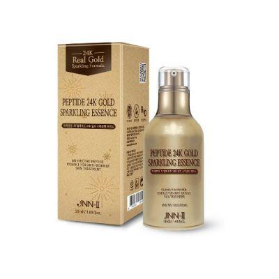 Эссенция для лица с 24К золотом JNN-II PEPTIDE 24K GOLD SPARKLING ESSENCE 50мл