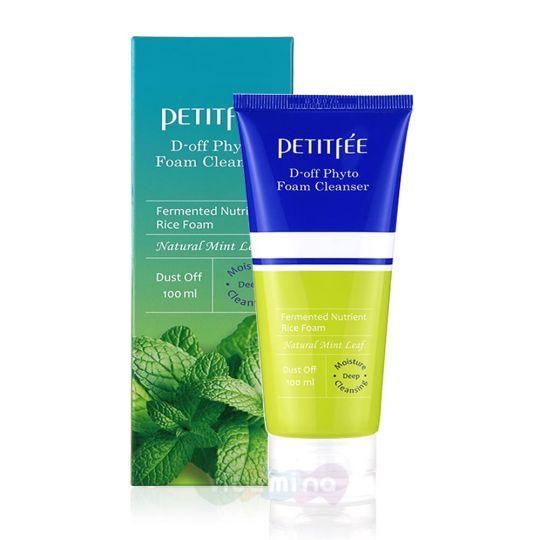 Petitfee Пенка с мятой для глубокого очищения кожи D-off Phyto Foam Cleanser