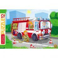 ПАЗЛЫ-ИГРА 12 элементов А4ф 300х200мм в Рамке -Пожарная машина- (арт. 12ПЗ4_09342)