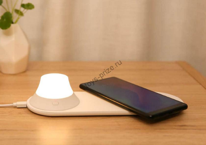 Беспроводная зарядка с ночником Xiaomi Yeelight wireless charging Night Light White