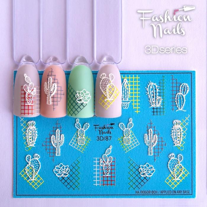 3D слайдер дизайн Fashion Nails #87