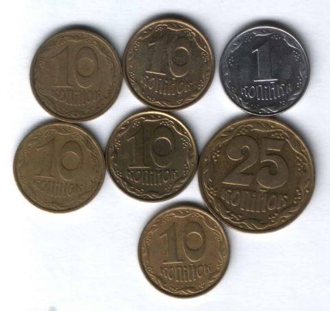 Набор монет Украина 1992-2004 гг. 7 шт.