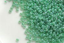 Бисер чешский 37356 зеленый непрозрачный блестящий Preciosa 1 сорт
