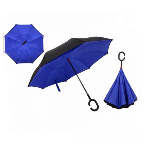 Зонт Наоборот, Синий однотонный
