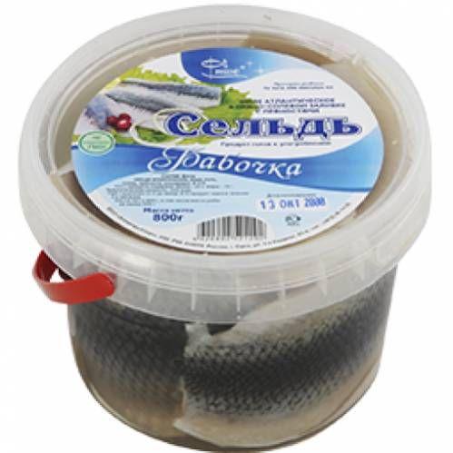 Сельдь филе Бабочка, 800г в пряно-солевой заливке с пряностями Фише