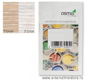 Цветные бейцы на масляной основе для тонирования деревянных полов Osmo Ol-Beize 3501 белый прозрачный 0,005 л