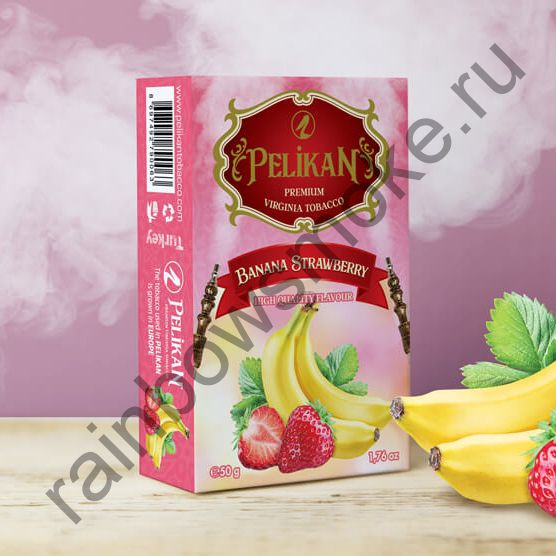 Pelikan 50 гр - Strawberry Banana (Клубника и Банан)