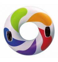 Надувной круг Цветной Вихрь, с ручками 122 см