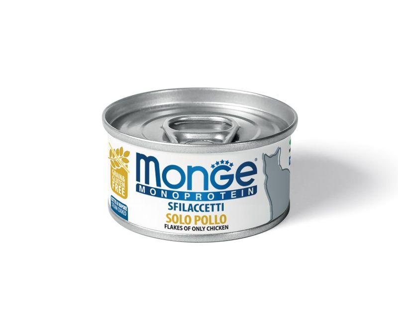 Monge Cat Monoprotein мясные хлопья для кошек из курицы 80 гр.