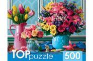 TOPpuzzle. ПАЗЛЫ 500 элементов. ВАЗЫ С ЯРКИМИ ЦВЕТАМИ (арт. ХТП500-4234)