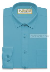 "Рубашки для мальчиков оптом ""Царевич"" (6-14 лет.). 10 шт. Артикул: Blue Aster"