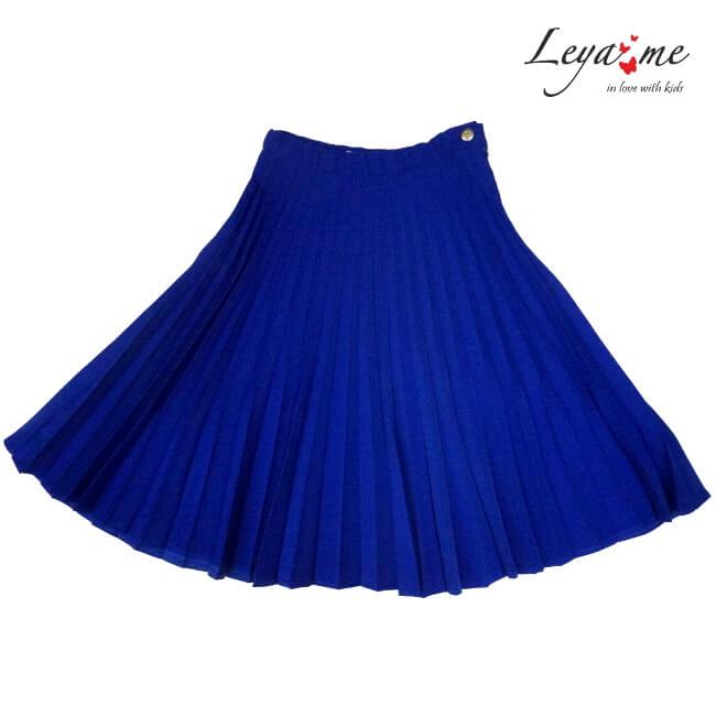Юбка синяя плиссированная