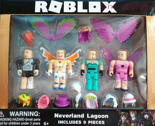 ROBLOX Neverland Lagoon  Роблокс 4 фигурки +13 акссесуаров