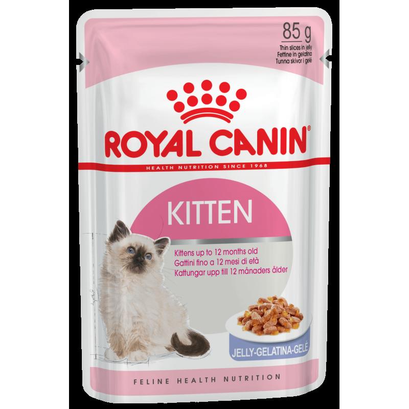 Консервы Royal Canin Kitten мелкие кусочки в желе для котят 85 гр