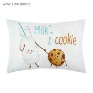"""Подушка """"Крошка Я"""" Milk&Cookie, 30х47 см, 100% хлопок, синтепон   3617359"""