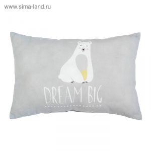 """Подушка """"Крошка Я"""" Большие мечты, 30х47 см, 100% хлопок, синтепон   3617344"""