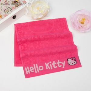Полотенце детское Hello Kitty 70х130 см, цвет розовый 100% хлопок, 400 г/м?