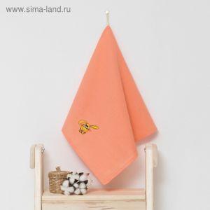 """Полотенце детское """"Доляна"""" Зая, цвет коралловый 40х70 см, 100% хлопок, 150 г/м?"""