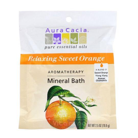 Aura Cacia Минеральное средство для ванны с ароматом Сладкого Апельсина Relaxing Sweet Orange
