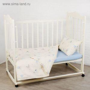 """Детское постельное бельё """"Я гуляю!"""", 120х60 см, 147х112 см, 42х62 см, цвет голубой 1777609"""