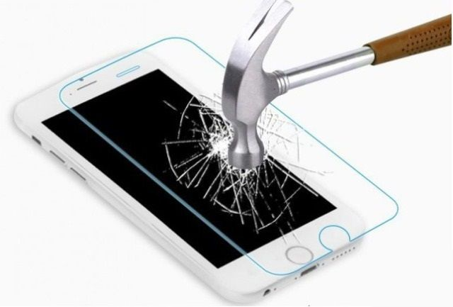 Защитное стекло Samsung A720F Galaxy A7 (2017) (бронестекло, 3D gold)