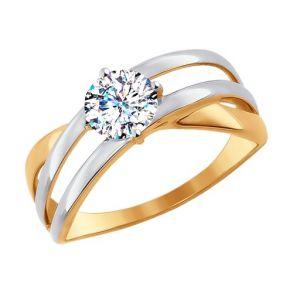 Кольцо из золота со Swarovski Zirconia 81010248 SOKOLOV