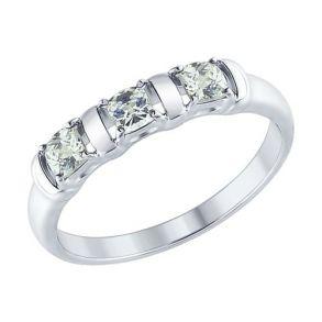 Кольцо из серебра со Swarovski Zirconia 89010065 SOKOLOV