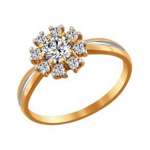 Кольцо из золота со Swarovski Zirconia 81010179 SOKOLOV