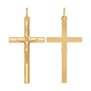 Католический крест из золота 121295 SOKOLOV