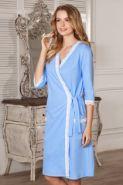 Халат Marta голубой для беременных и кормящих