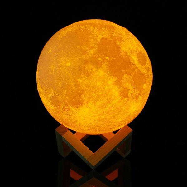 """Светильник- ночник  Луна """"3D Moon Lamp"""" 15 см ( с пультом)"""