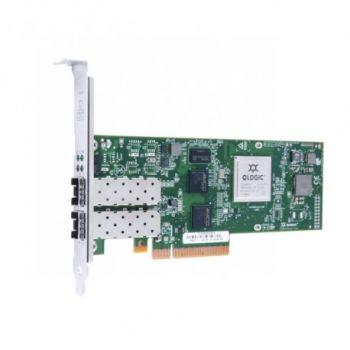 Контроллер Qlogic 8Gb 2-port FC HBA x8 PCIe LC multi-mode optic, QLE2562-CK
