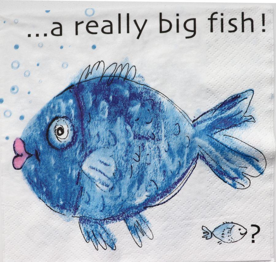 Салфетка бумажная 30*30 Большая рыба