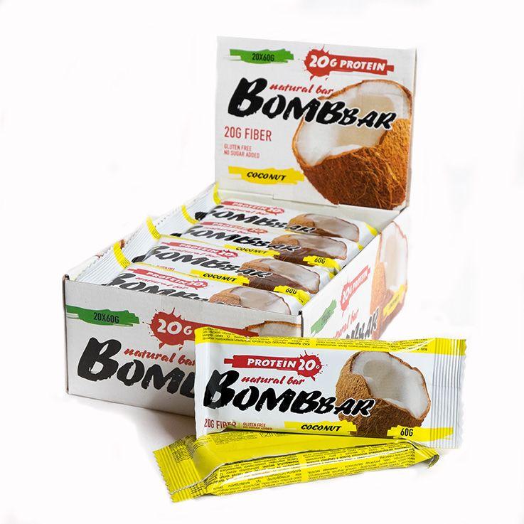 """Bombbar со вкусом """"кокос"""" 60 гр"""