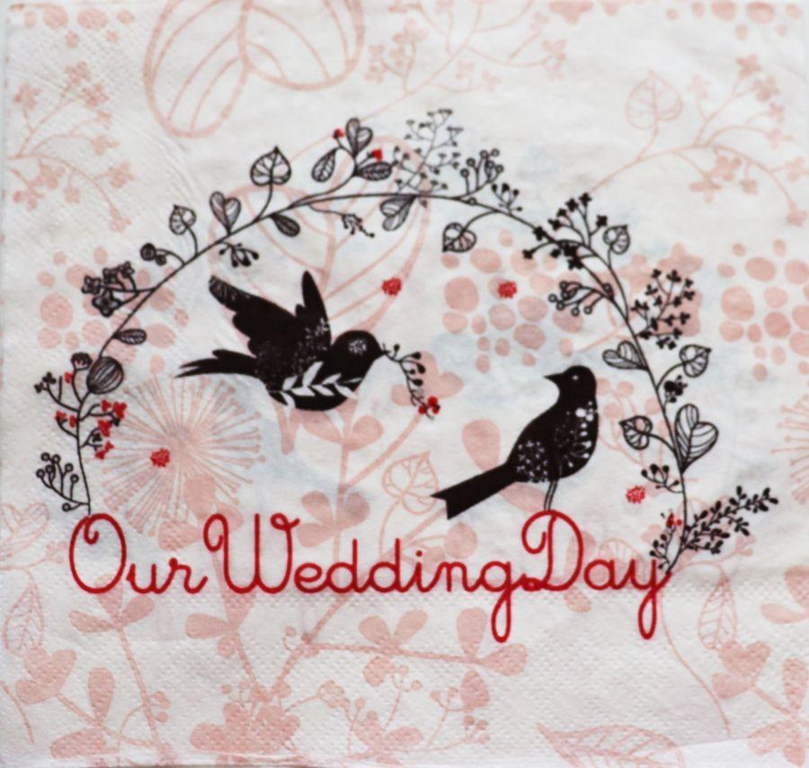 Салфетка бумажная 30*30 Наш свадебный день