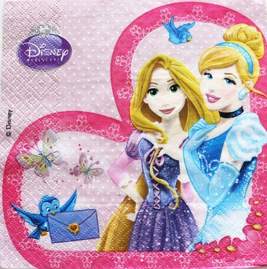 Салфетка бумажная 30*30 Принцессы Disnay