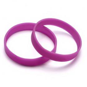 Силиконовый браслет спортивный фиолетовый