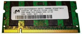 Модуль памяти Micron MT16HTF25664HY-667G1 2GB DDR2  5300S 667Mhz SO-DIMM