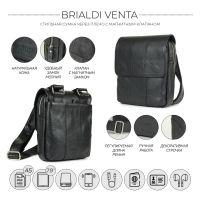 Кожаная сумка через плечо BRIALDI Venta (Вента) relief black