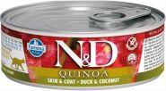 Farmina N&D консервы для кошек с киноа, утка и кокос 80 гр