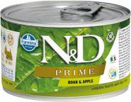 Farmina N&D Prime Консервы для собак мелких пород, кабан и яблоко 140г