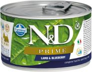 Farmina N&D Prime Консервы для собак мелких пород, ягненок и черника 140г